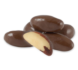 Milk Chocolate Brazils  are chocolate covered brazil nut candy