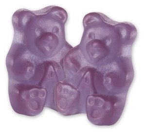 Albanese Purple Grape Gummi Bears gummy candy