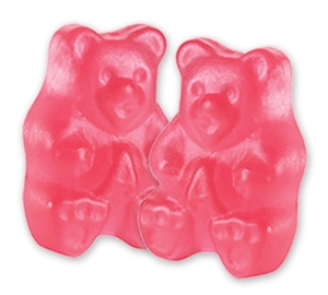 Albanese Ripe Watermelon Gummi Bears gummy candy in pink