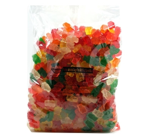 Albanese Sugar Free Wild Fruit Gummi Bears are sugarfree gummy candy in green orange white pink yellow red