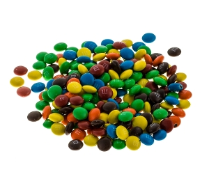 M&M's Mini Milk Chocolate Bulk candy great for topping, baking and available in party size