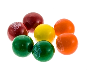 Nerds Gumballs are Wonka hard  fruity candy in red yellow orange green