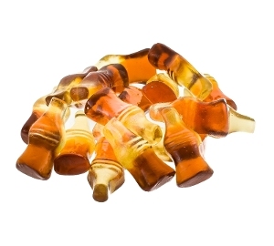 Haribo Happy Cola Gummy, Gummi, candy, coca, cola, soda, white, brown, haribo