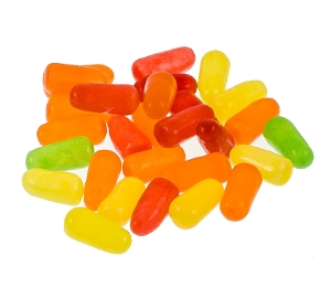 Mike & Ike Mike and Ike cherry lime lemon strawberry candy in red yellow orange and green